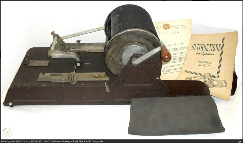 Heyer Lettergraph Model C